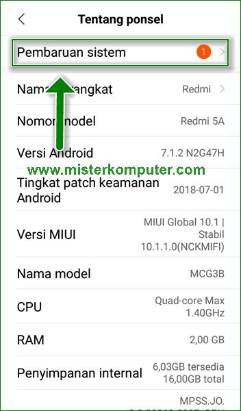 Cara Update ROM MIUI Xiaomi Secara Manual