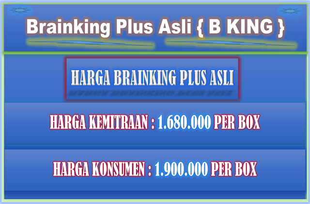 Harga Brainking Plus 08123018900