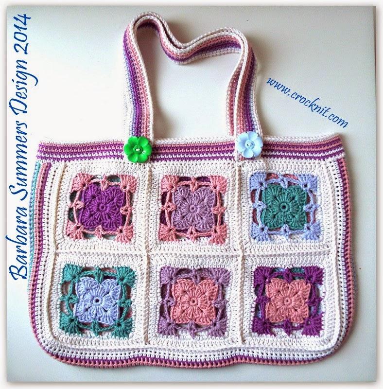 crochet tote bag, market bag, afghans, square motifs,