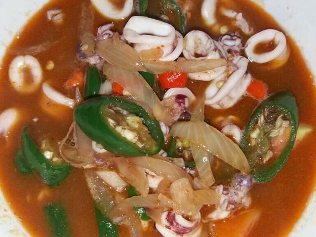 Makanan cumi basah pedas (cookpad.com)