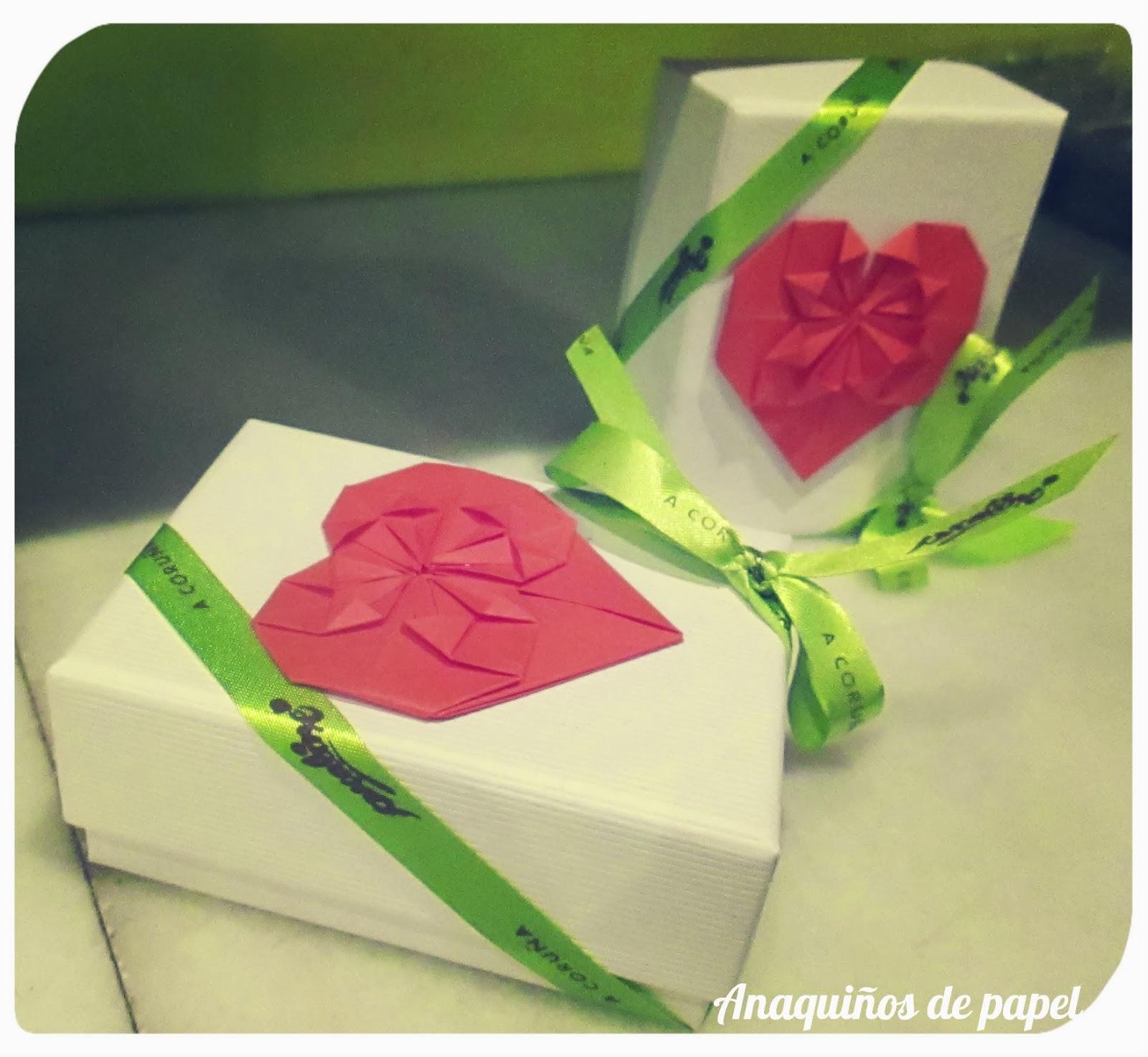Cajitas con detalles en origami + reportaje en La Bolsalea ...