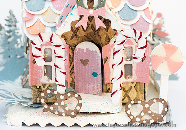 Layers of ink - Pastel Paper Gingerbread House Tutorial by Anna-Karin