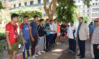 فتح باب التقدم لاختبارات القدرات لطلاب الثانوية العامة لكلية التربية الرياضية بجامعة سوهاج العام الدراسي 2018-2019