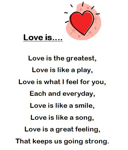 Adventures in Room 111: Spelling Poem #20: Love is....