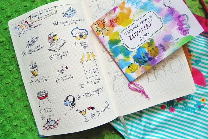 Moja lista wakacyjna - bullet journal | Level up! studio