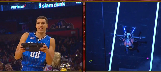 Aaron Gordon Dunks With Assist From Intel Drone! (VIDEO)