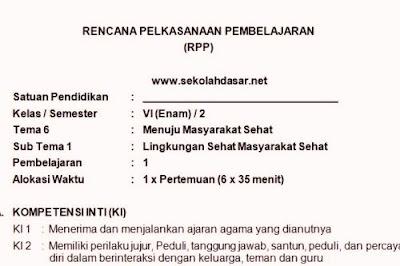 RPP Kelas 6 Semester 2 Kurikulum 2013 Lengkap