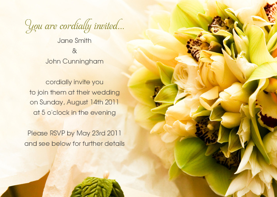 Electronic Wedding Invitation: The Latest From JNB: Electronic Invitations...for A Wedding?