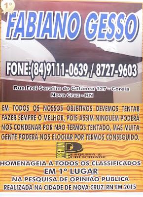 FABIANO GESSO - (84) 991110639