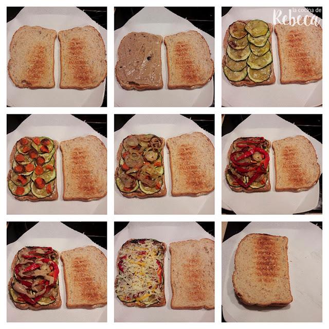 Receta de sándwich de verduras asadas con mayonesa de ajo negro 02