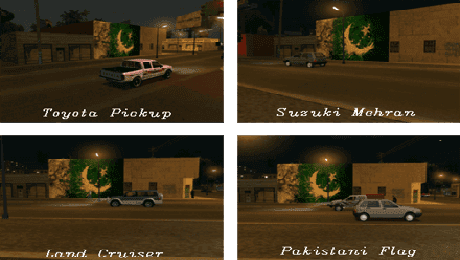 GTA San Andreas Pakistan Cars Vehicles Pakistani Flags