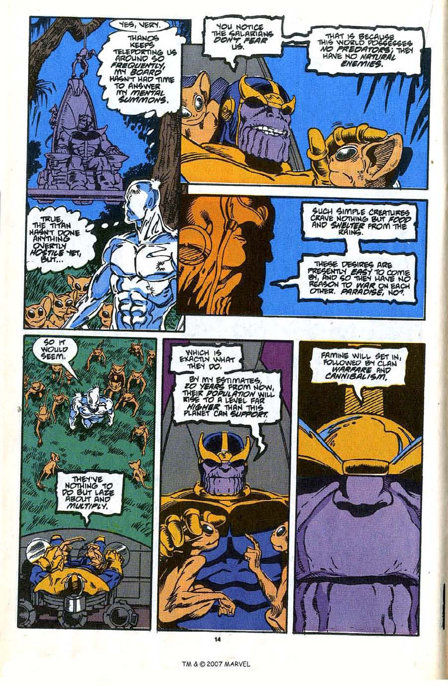 Read online Silver Surfer (1987) comic -  Issue #35 - 16