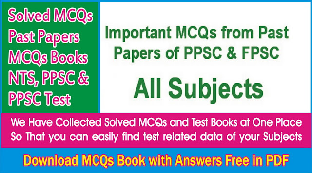 download MCQs with answers in PDF free NTS Books