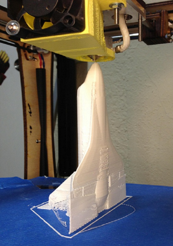 3D printed model nasa shuttle
