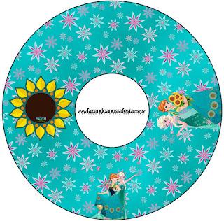 Etiquetas de Frozen Fever para CD's.