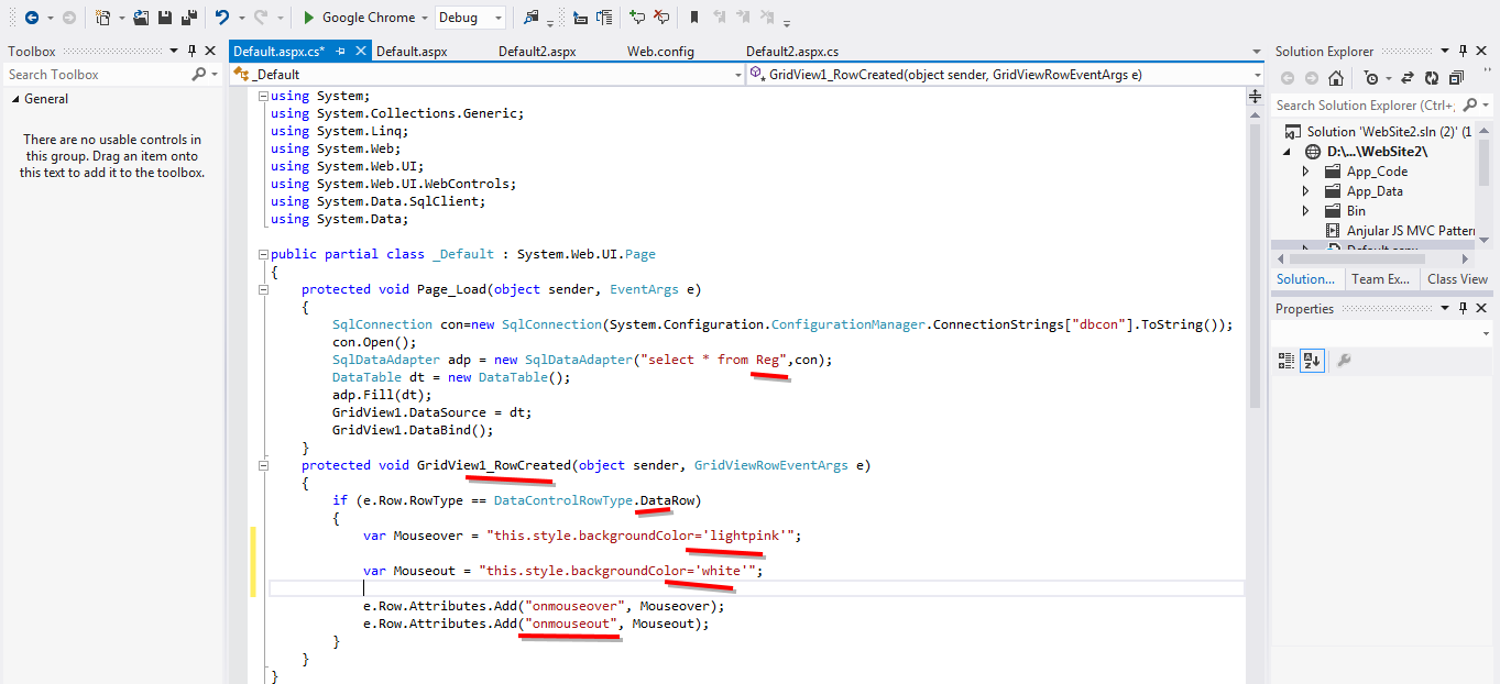 Highlight Gridview Row On Mouse Hover Using In Asp Net C Screenshotsdrizzles