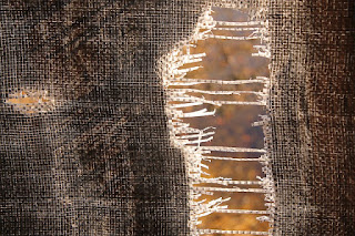 torn fabric image