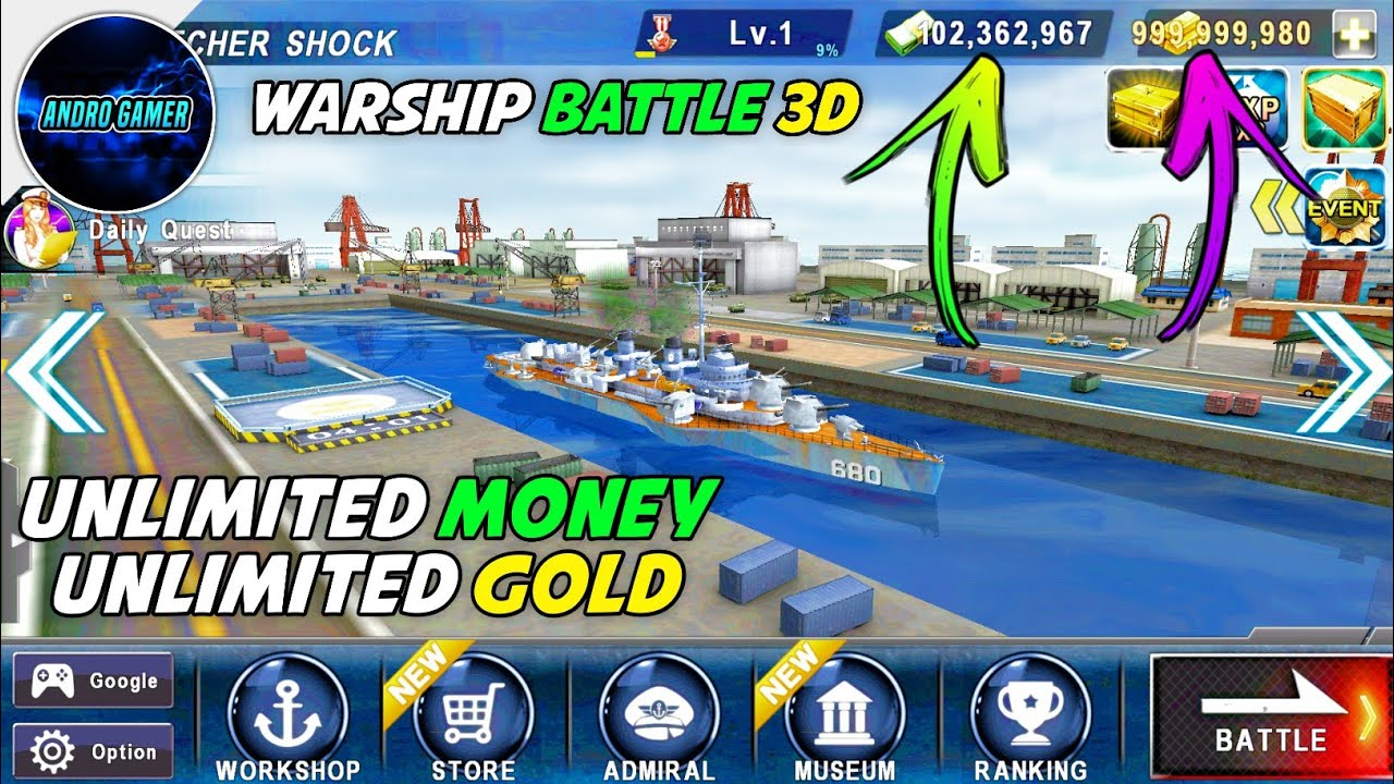 😍 Warship battle hack mod apk | WARSHIP BATTLE 3D World War v2 5 7