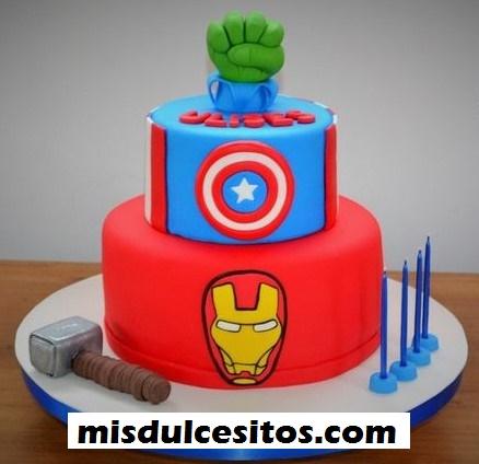 Tortas Avengers. Venta de tortas artísticas en La Molina, San Borja, Surco, Lima