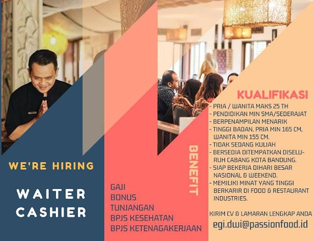 lowongan kerja cashier dan waiter pt Duta Pertiwi