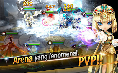 Tampilan Game Summoners War Sky Arena
