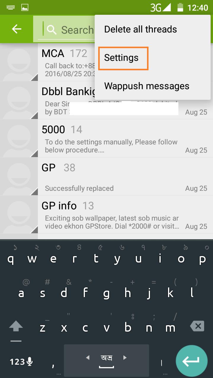 Message Service Center Number of GP, Robi, Banglalink