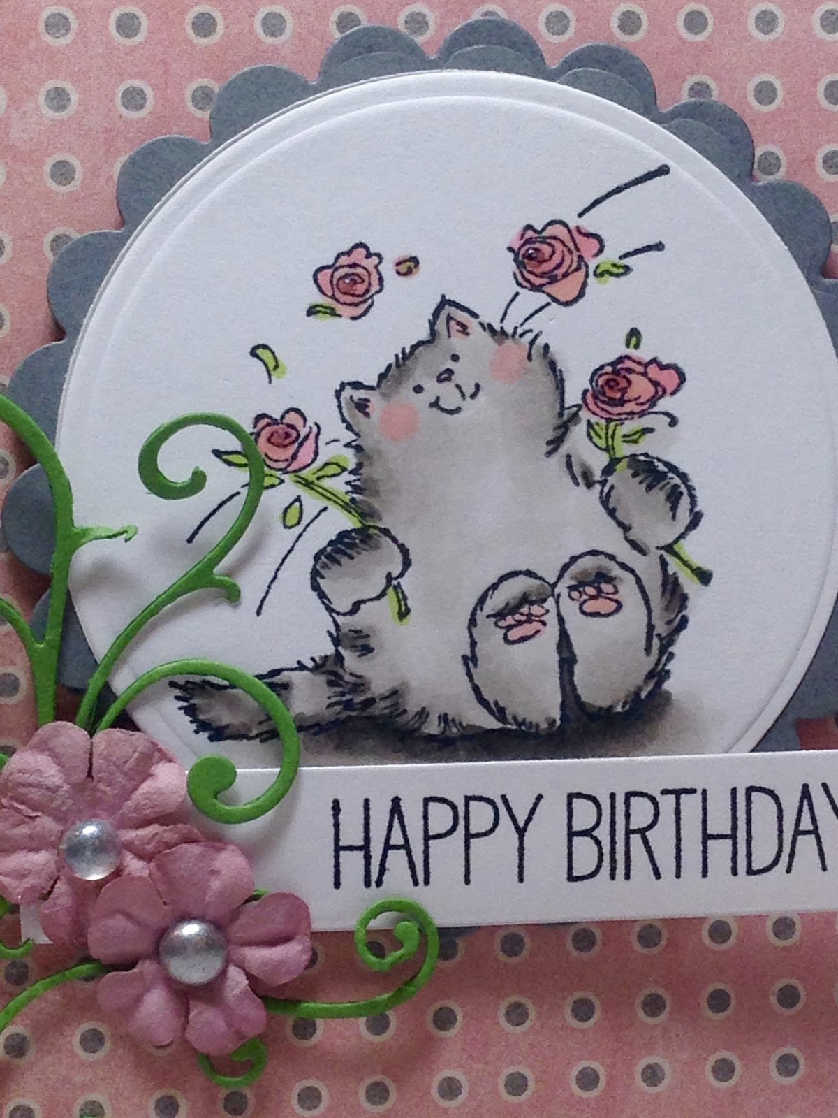 Cats and Flowers Card