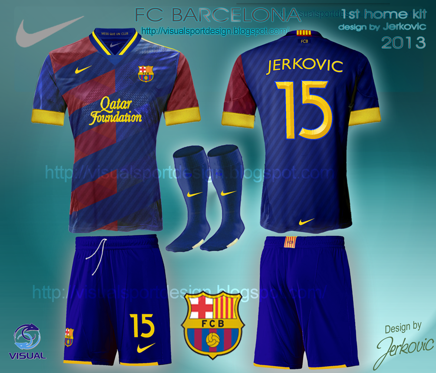 on sale d26c7 9e35c Visual Football Fantasy Kit Design: FC Barcelona : Original ...