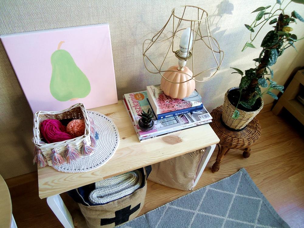 proste dekoracje, pompony, srtyl boho
