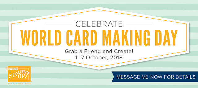World Card Making Day 2018 Stampin' Up! Promotion from Mitosu Crafts UK Online Shop #wcmd2018