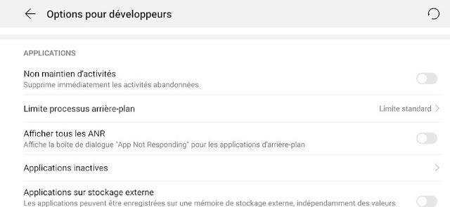 من الممكن الحد من عدد التطبيقات التي يمكن تشغيلها في الخلفية.