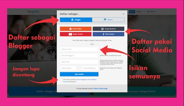 Ubah Media Sosial Jadi Duit Bersama Blogmint