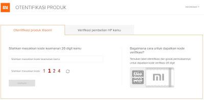 Xiaomi verifikasi produk