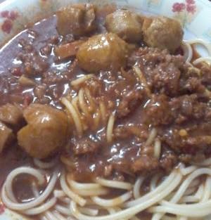 Spagetti bolognese ala melayu
