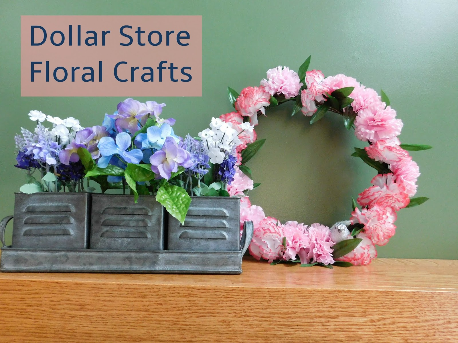 Dollar Store Craft Challenge Using Fake Flowers To Welcome Spring