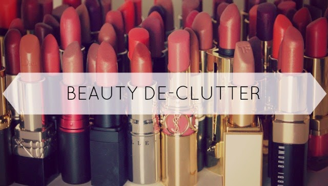 top tips decluttering beauty product collection stash