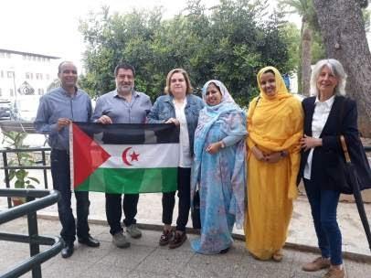 Una delegación saharaui visita el Fons Mallorquí.