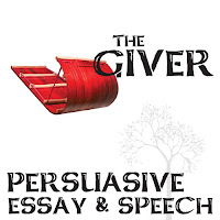 Students are given 3 persuasive topics about The Giver:  > Theme - Getting rid of pain > Character - Carrying the memories > Setting - Personal Rights  They can then choose to write an essay or deliver a speech on their ideas from The Giver. The grading rubrics are included for easy, effective grading and feedback.