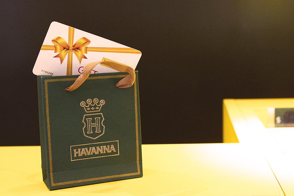 cartão presente havanna
