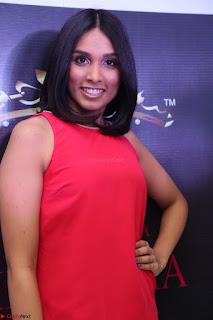 Spatika Surapaneni in Red Tight Dress at FBB Miss India 2017 finalists at Telangana auditions Feb 2017 (7).JPG