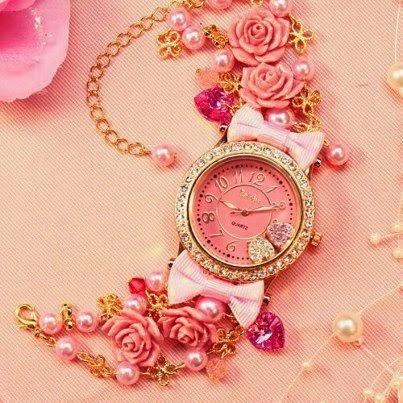 Girly Pink Watch