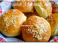 Resep Mudah Membuat Roti Burger ( Easy Recipe To Make Burger Buns )