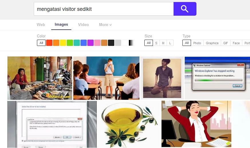 Dan ini contoh dari yahoo image search