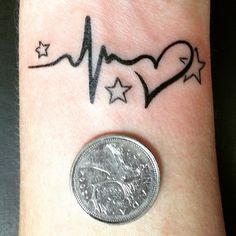 Beautiful Heartbeat Tattoo Designs