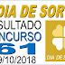 Resultado do Dia de Sorte concurso 61 (09/10/2018)