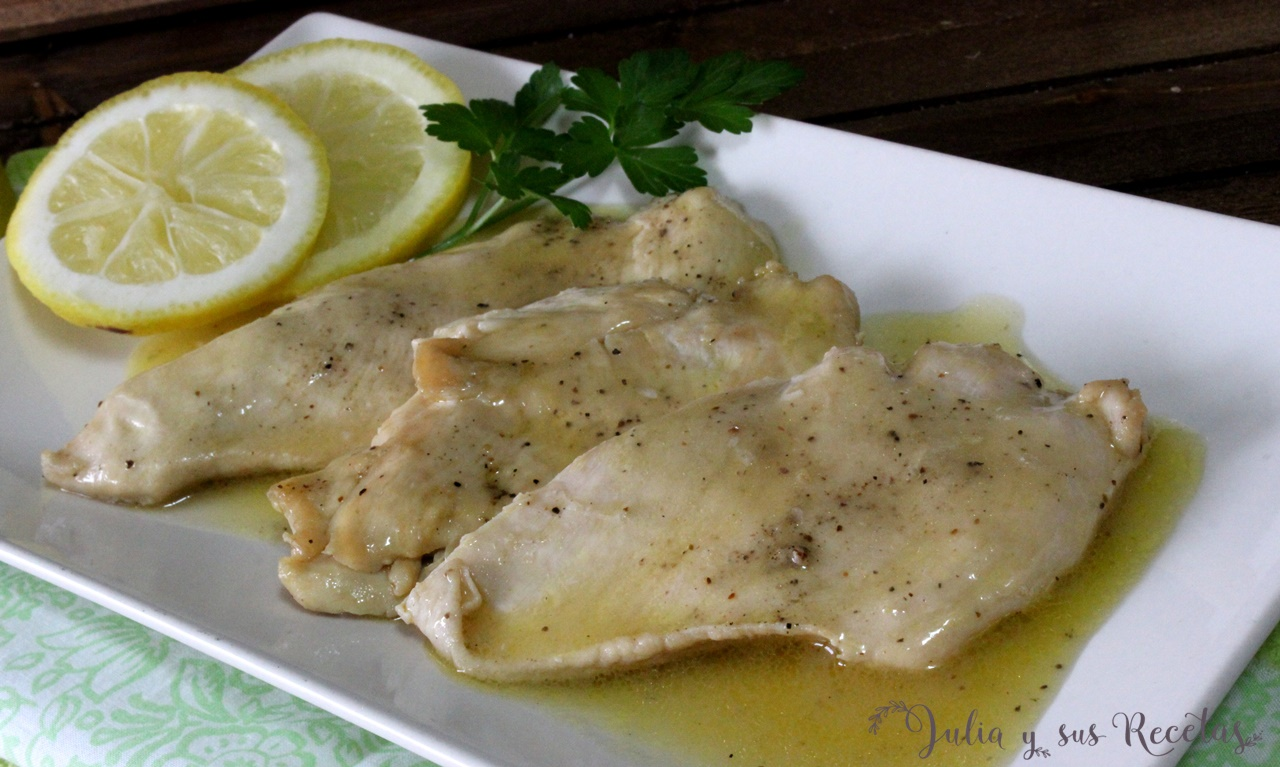 Julia y sus recetas pechugas de pollo en salsa de lim n - Salsa de pollo al limon ...