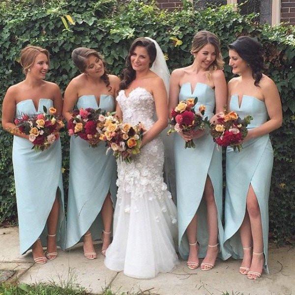 Vestidos para damas de novia 2016
