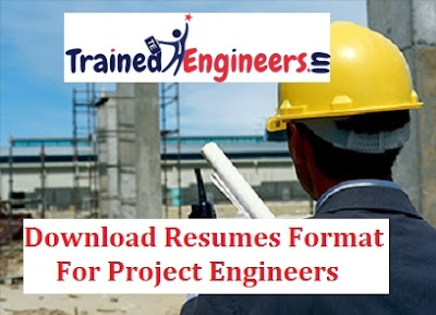 Download Resumes Format For Project Engineers