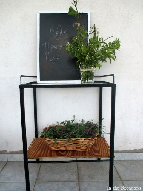 Great transformation from old and rusty to modern metal side table.