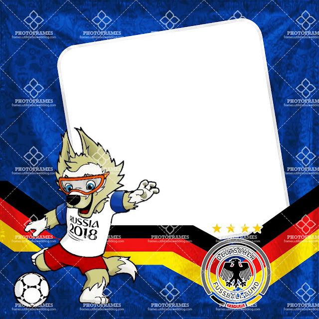 bonito marco para fotos de Alemania con motivo al mundial Rusia 2018